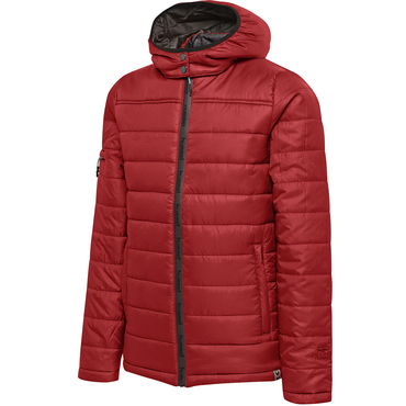 NORTH QUILTED HOOD JACKET KIDS hummel, rot hummelonlineshop
